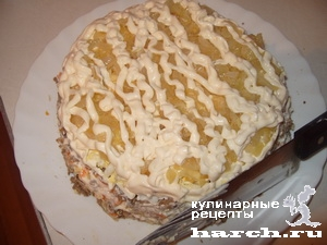 """Торт из рубленой печенки """"Ностальгия"""""""