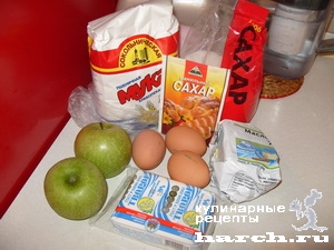 Творожный пирог с яблоками