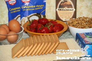 vafelniy tort bes vipechki klubnichniy smak 02 Вафельный торт без выпечки Клубничный смак