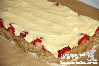 vafelniy tort bes vipechki klubnichniy smak 09 Вафельный торт без выпечки Клубничный смак