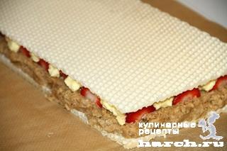 vafelniy tort bes vipechki klubnichniy smak 10 Вафельный торт без выпечки Клубничный смак
