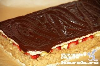 vafelniy tort bes vipechki klubnichniy smak 12 Вафельный торт без выпечки Клубничный смак