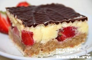 vafelniy tort bes vipechki klubnichniy smak 13 Вафельный торт без выпечки Клубничный смак