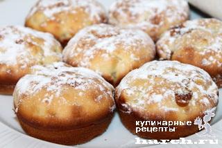 Яблочные кексы с вареной сгущенкой
