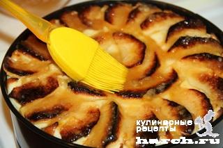 Яблочный пирог с творожным суфле