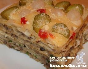 рецепты торт из коржей наполеон мясные