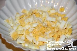 Закуска из печени трески с икрой