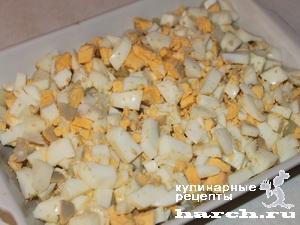 Закуска из сельди с картофелем и яйцом