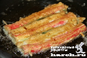 Закусочные корейские коврики с крабовыми палочками