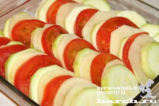 Запеканка из кабачков и картофеля и помидор в духовке рецепты