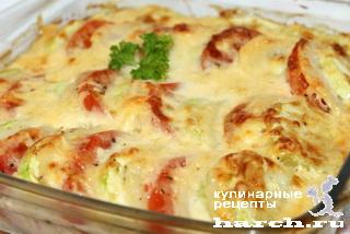 Запеканка из картофеля с кабачками и помидорами по-французски