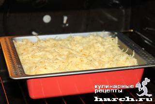 Запеканка из куриного фарша с картофельным пюре 'Гнездо'
