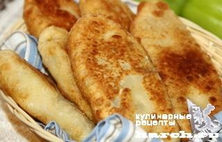 Заварные пирожки с картошкой и языком