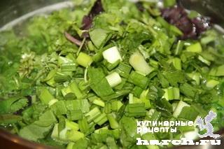 """Зеленый суп с фрикадельками """"Сябзи"""""""