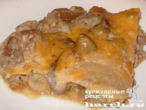 zhulen is kurinoy pecheni s gribami na skovorode 11 Жюльен из куриной печени с грибами на сковороде